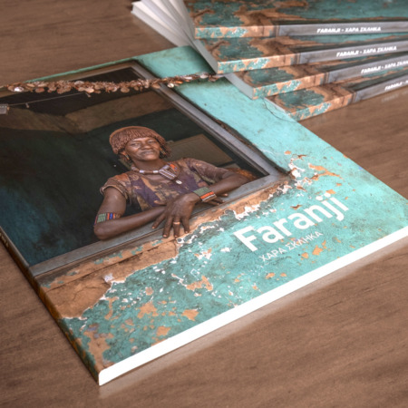 Faranji is a 120 page photobook with texts and images of Hara Sklika's trip in Ethiopia